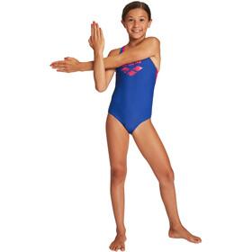 arena Spray Pro Back One Piece Swimsuit Girls royal/freak rose